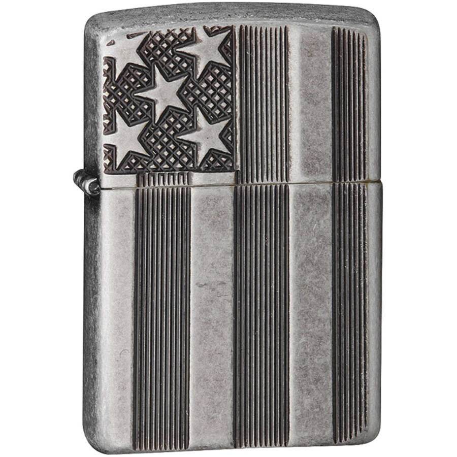 Zippo Classic US Flag Deep Carve Lighter, 28974