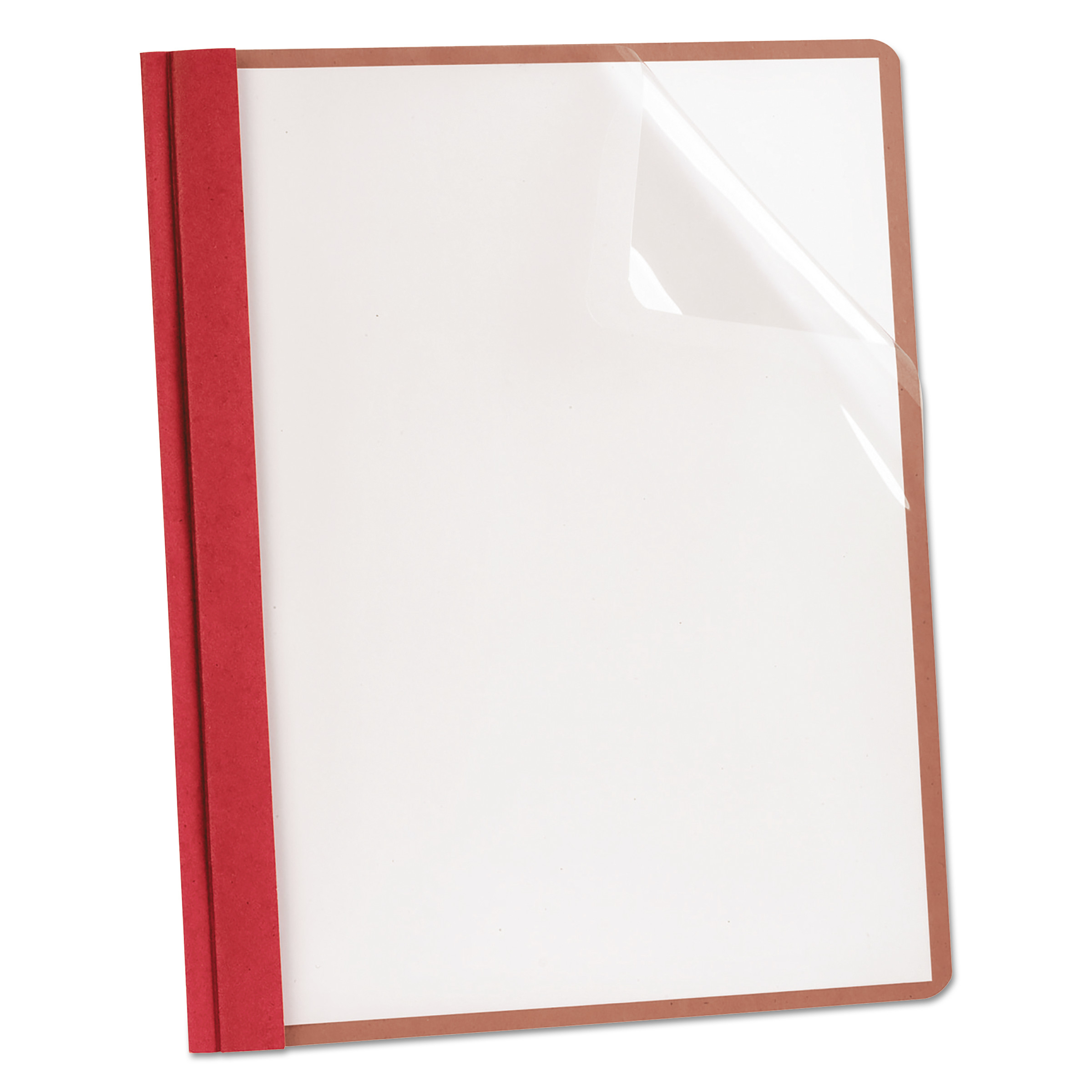 Earthwise by Oxford Recycled Clear Front Report Covers, Letter Size, Red, 25 Box -OXF57871 by TOPS BUSINESS FORMS