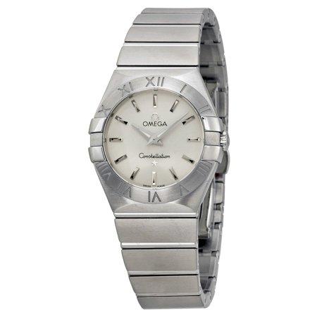 Omega Constellation Brushed Steel Ladies Watch 123.10.27.60.02.001