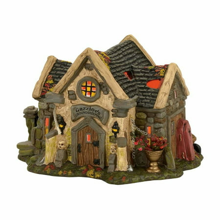 Dept 56 Snow Village Halloween 4056701 The Haunted Cemetery Shed - Halloween Cemetery Drawings