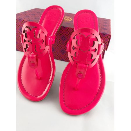 9a161c523 Tory Burch - Tory Burch Miller Sandals Thong Flip Flop Patent Leather Neon  Pink 7.5 - Walmart.com