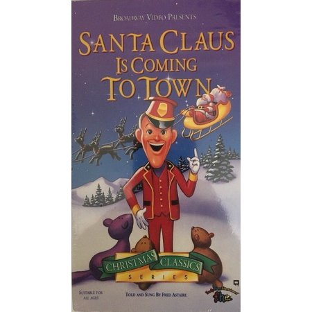 VHS SANTA CLAUS IS COMING TO TOWN *Christmas Classic Series* Fred Astaire-RARE