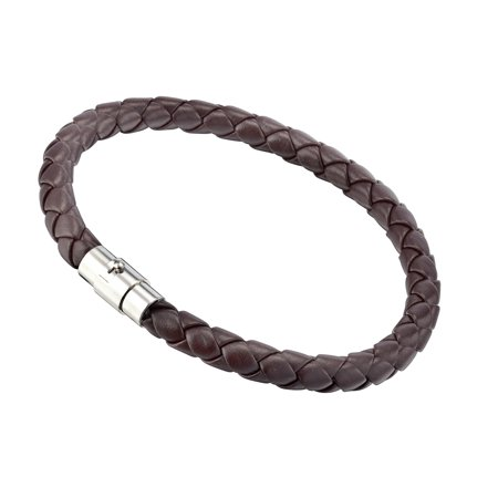 Gemini Unisex Genuine Leather Braided Stainless Steel Wristband Bracelet Valentine's Day Men Women Gm001 7
