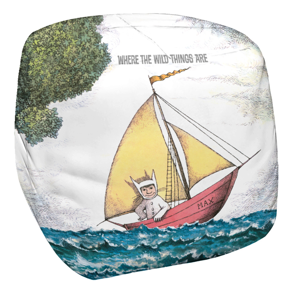 Where The Wild Things Are Maxu0027S Boat Bean Bag Chair White 33X33X31