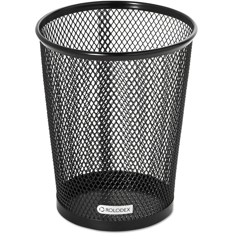 Rolodex Nestable Jumbo Wire Mesh Pencil Cup, Black