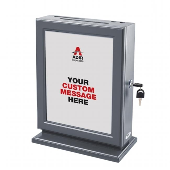 Adir 632-GRY Customizable Wood Suggestion Box - Grey