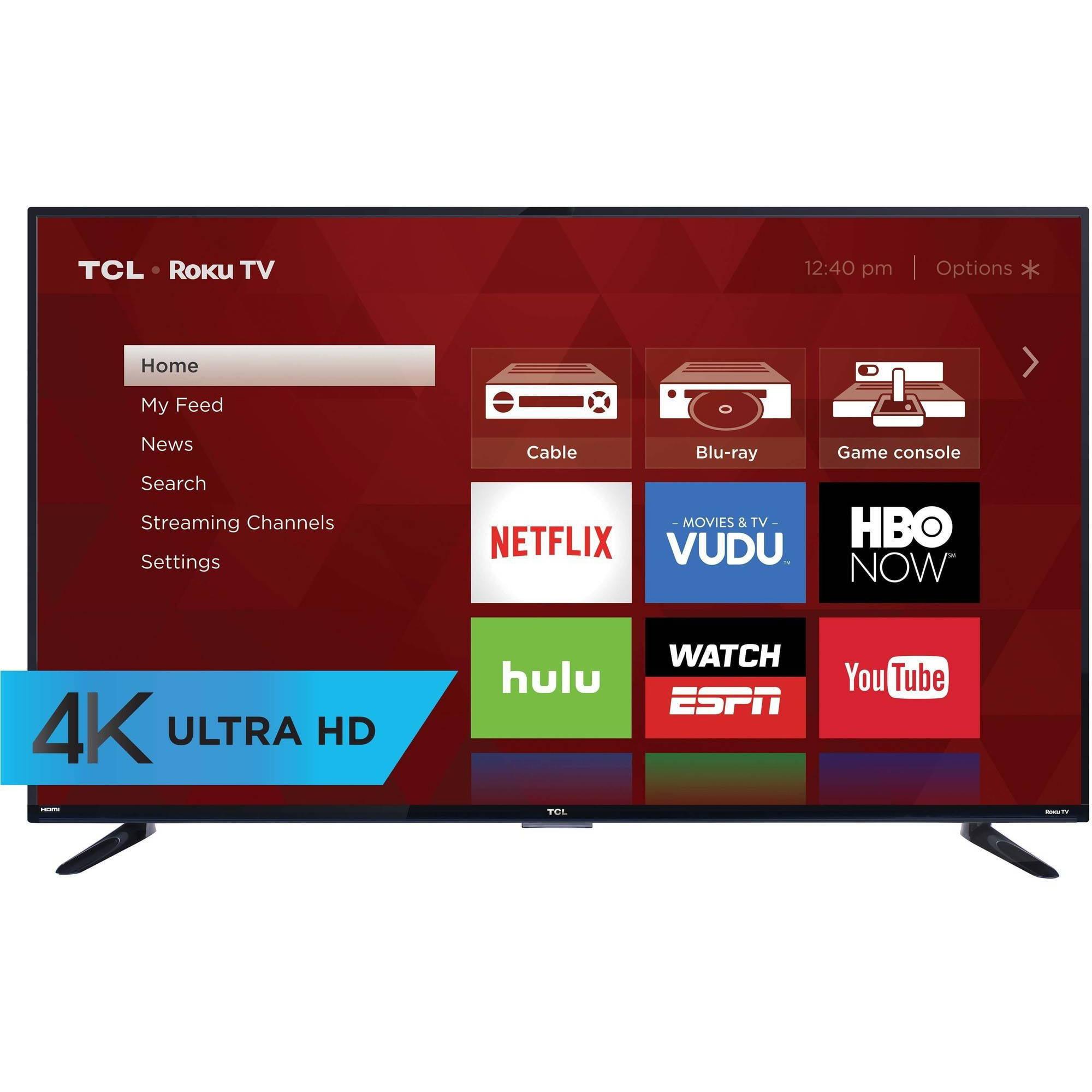 "Refurbished TCL 55"" Class 4K (2160P) Roku Smart LED TV (55US57) by TCL"