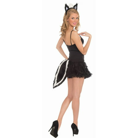 Halloween Skunk Ears & Tail Set (Halloween Costumes Dog Ears And Tail)