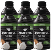 Powerful Drink – Protein Shake, Meal Replacement Shake, Greek Yogurt, Gluten Free, Ready to Drink, 20g Protein, Coconut, 6 Pack