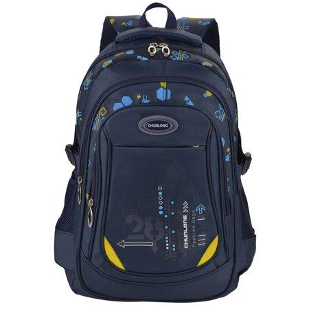 Nylon Backpack, Coofit Multi-pockets Practical Simple School Daypack Travel Backpack Casual School Bookbag for Kids Boys Girls Teen Student