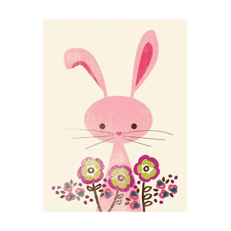 Bunny and Blooms Print Wall Art