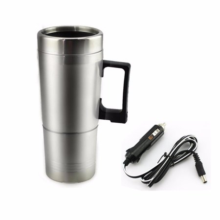 12V 304 Stainless Steel and Food Grade Material Car Stainless Steel Cigarette Lighter Heating Kettle Mug Electric Travel Thermoses Water Coffee Cup  - image 13 of 13