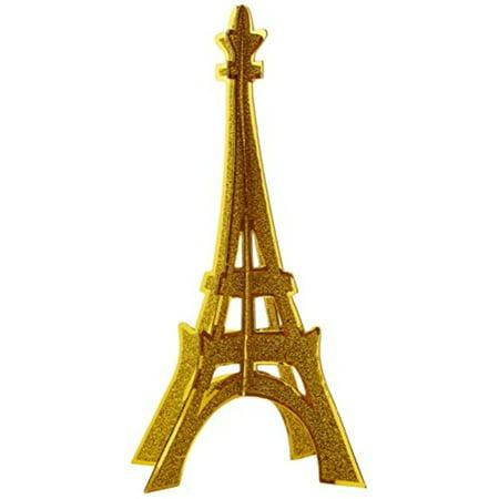 Glittered 3-D Eiffel Tower Centerpiece Party Accessory (1 count) (1/Pkg)