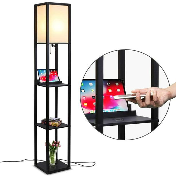 Brightech Maxwell Shelf Floor Lamp W, Skinny Floor Lamp With Shelves
