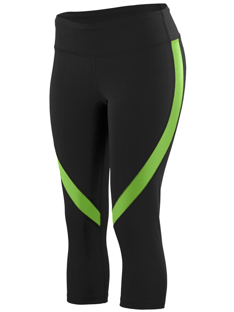 AG2406 Augusta Sportswear Yoga Pants Girls Wicking Poly/Span Capri