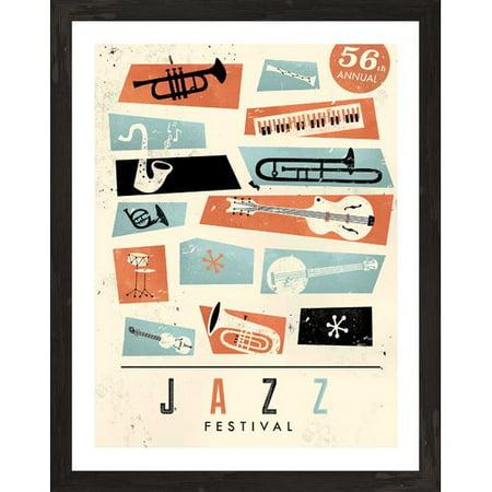 Jazz Festival Poster Card (PTM Jazz Festival Poster Framed Vintage)