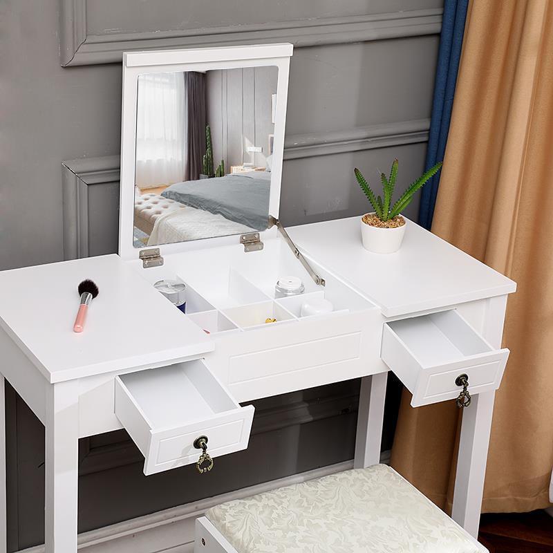 Ktaxon Dressing Table Vanity Set Makeup Table with Flip ...