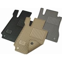 Genuine OE Mercedes-Benz Floor Mats - All-Weather - Coupe - Beige Q-6-68-0715