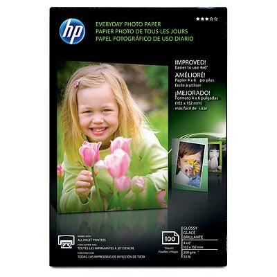- HP Everyday Glossy Photo Paper-100 sht/4 x 6 in