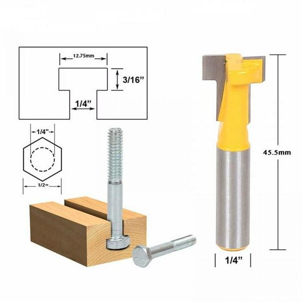 "New Flush Trim Router Bit Top/&Bottom Bearing 1/""H X1//4/'/' Shank Woodworking Tool"