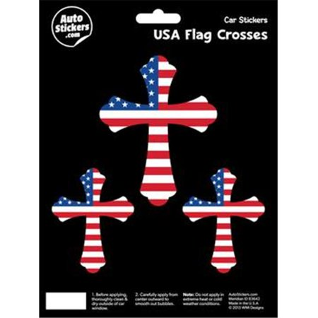 Decalcomania 10211 usa flag cross decal stickers