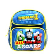 """""""ALL ABOARD"""" Thomas the Train Engine 10"""" Mini Toddler Canvas School Backpack"""