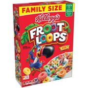 Kellogg's Froot Loops Multi-Grain Cereal Family Size, 21.7 oz