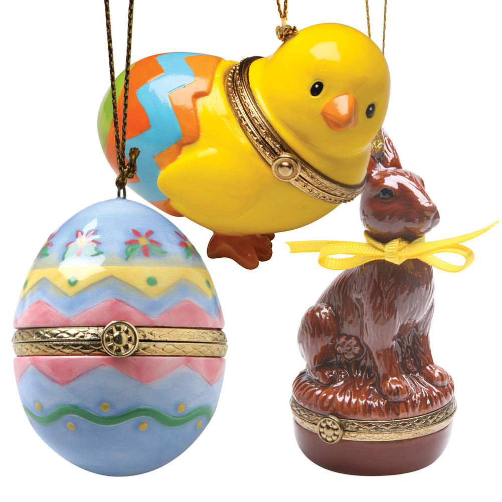 Easter Gift Idea - 3 Surprise Opening Ornaments - Chick, Bunny, And Egg