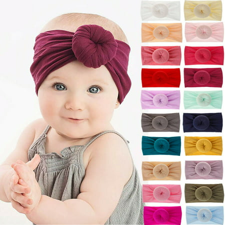 SUNSIOM Toddler Girls Baby Soft Bow Hairband Headband Stretch Turban Knot Head Wrap