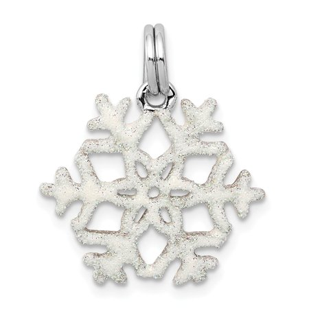 Enamel Snowflake Charm - Roy Rose Jewelry Sterling Silver Enameled Snowflake Charm