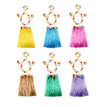 5pcs Performance Costume Party Decor Hawaii Adult Kids Hawaiian Dance Decoration Event Party Colors Clothing Party Supplies