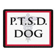 PTSD Service Dog Patch for Service Dog Vest or Harness