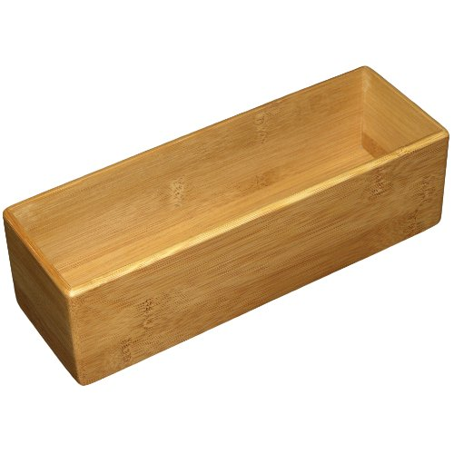 Totally Bamboo Drawer Organizer, 3-Inch by 9-Inch Multi-Colored