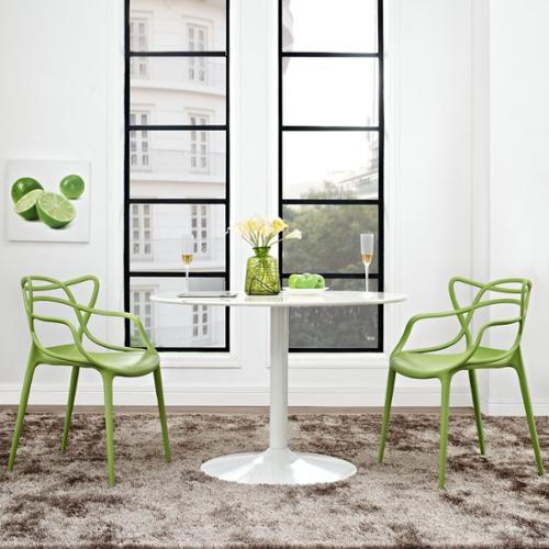 Entangled 2-piece Dining Set White