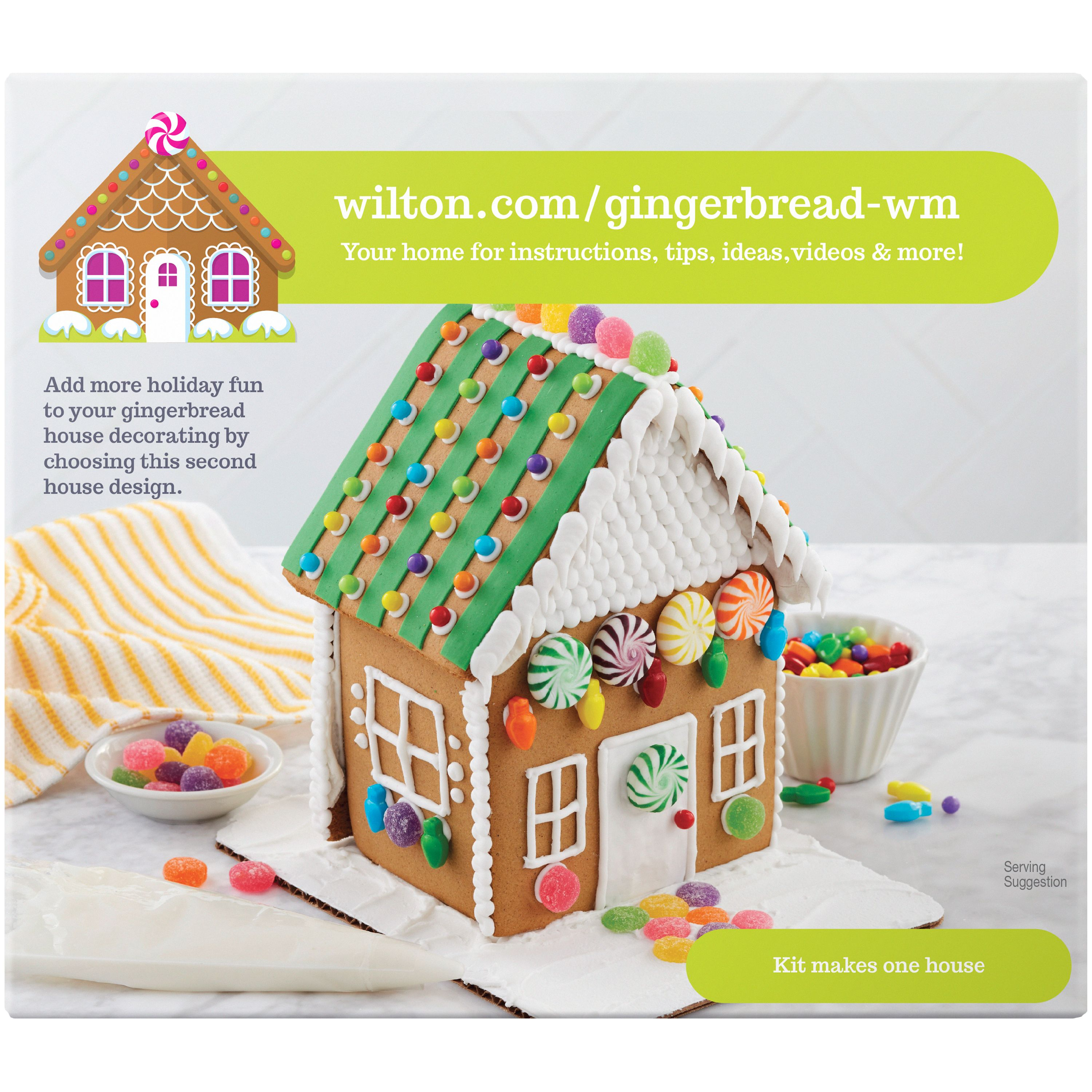 Wilton Ready-to-Decorate Gingerbread Townhouse Decorating