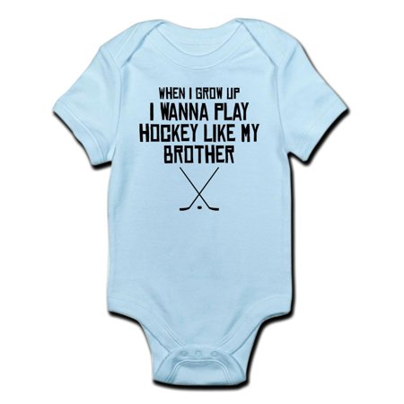 CafePress - Play Hockey Like My Brother Body Suit - Baby Light (Best Baby Brothers)