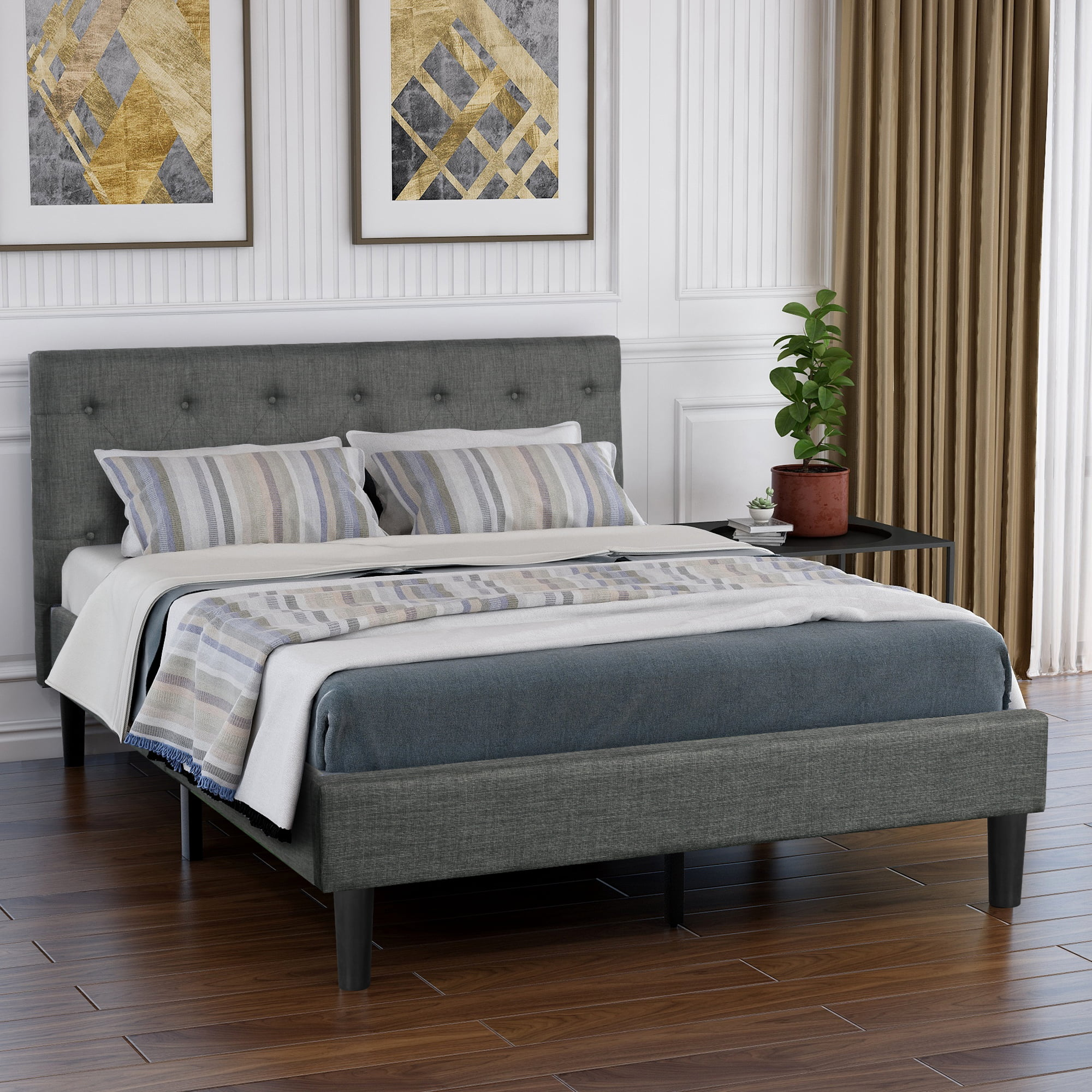 Clearance! Queen Bed Frame No Box Spring Needed, 2020 ...