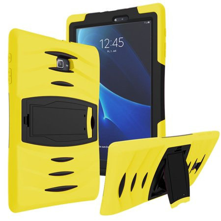 huge discount fbffb f67c7 Galaxy Tab E 9.6 Case Cover by KIQ Shockproof Heavy Duty Armor Kickstand  Screen Protector [SM-T560, SM-T561, SM-T560NU, SM-T560NZ] (Yellow)