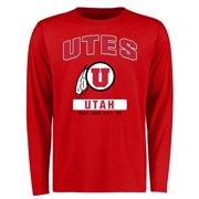 Utah Utes Big & Tall Campus Icon Long Sleeve T-Shirt - Red