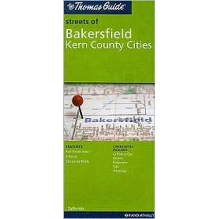 Thomas Guide Folded Map Streets of Bakersfield, Kern County Cities on