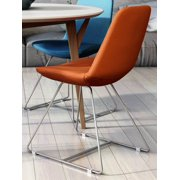 Contemporary Side Chair in Orange - Set of 2