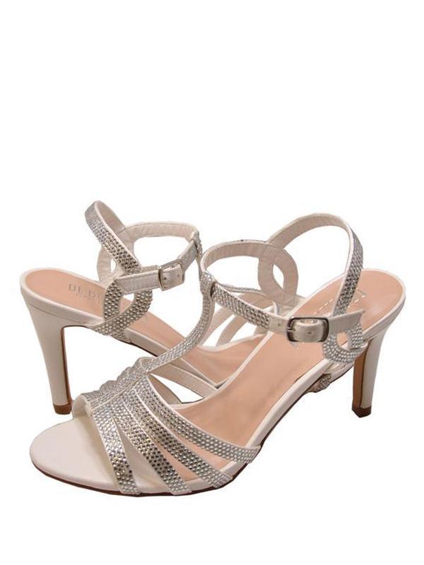 Blossom Rita 3XWomen's T-Strap Embellished Formal Heels