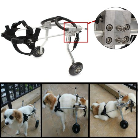 2-Wheels Adjustable Pet Dog Cat Cart Wheelchair Walk for Handicapped