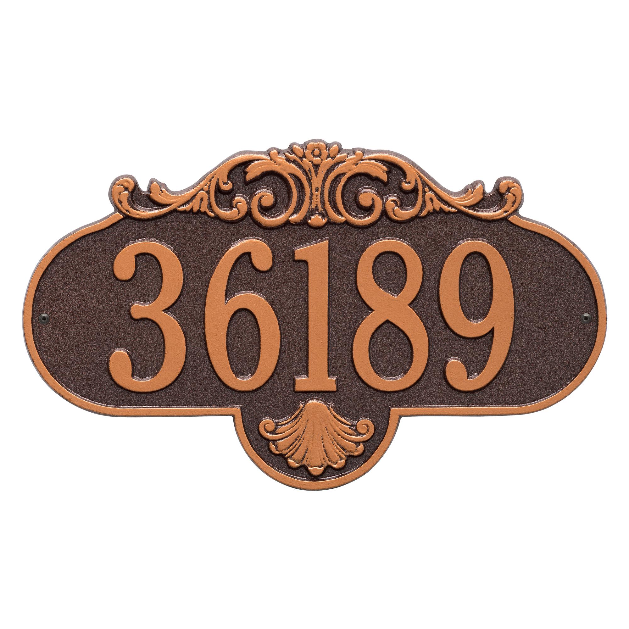 Personalized Rochelle 1-Line Grande Wall Plaque in Antique Copper