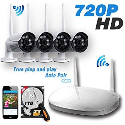 ipccam 4pcs 720p outdoor bullet camera with 4ch 1080p out...
