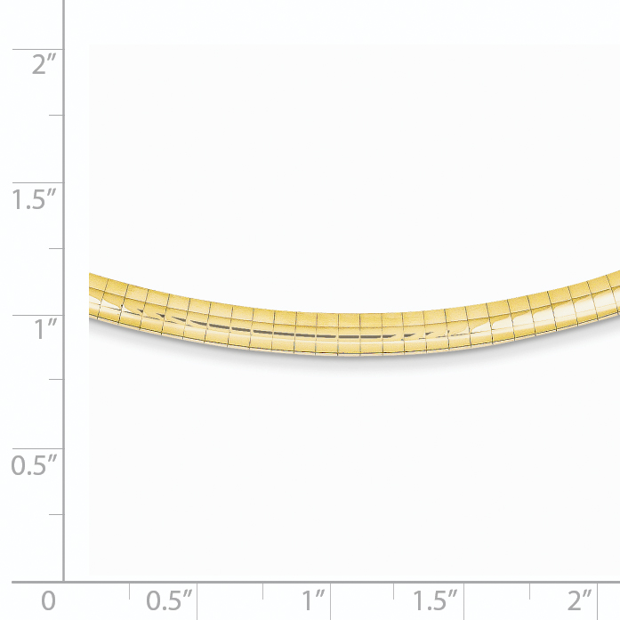 14K Yellow Gold 4mm Lightweight Domed Omega Necklace 18 Inch - image 1 de 2
