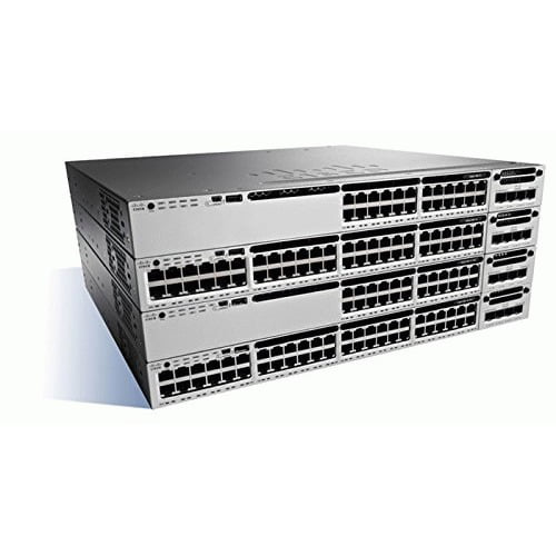 Cisco Catalyst WS-C3850-24XS Layer 3 Switch 24 Expansion Slot Manageable Optical Fiber 3 Layer Supported 1U High... by Cisco