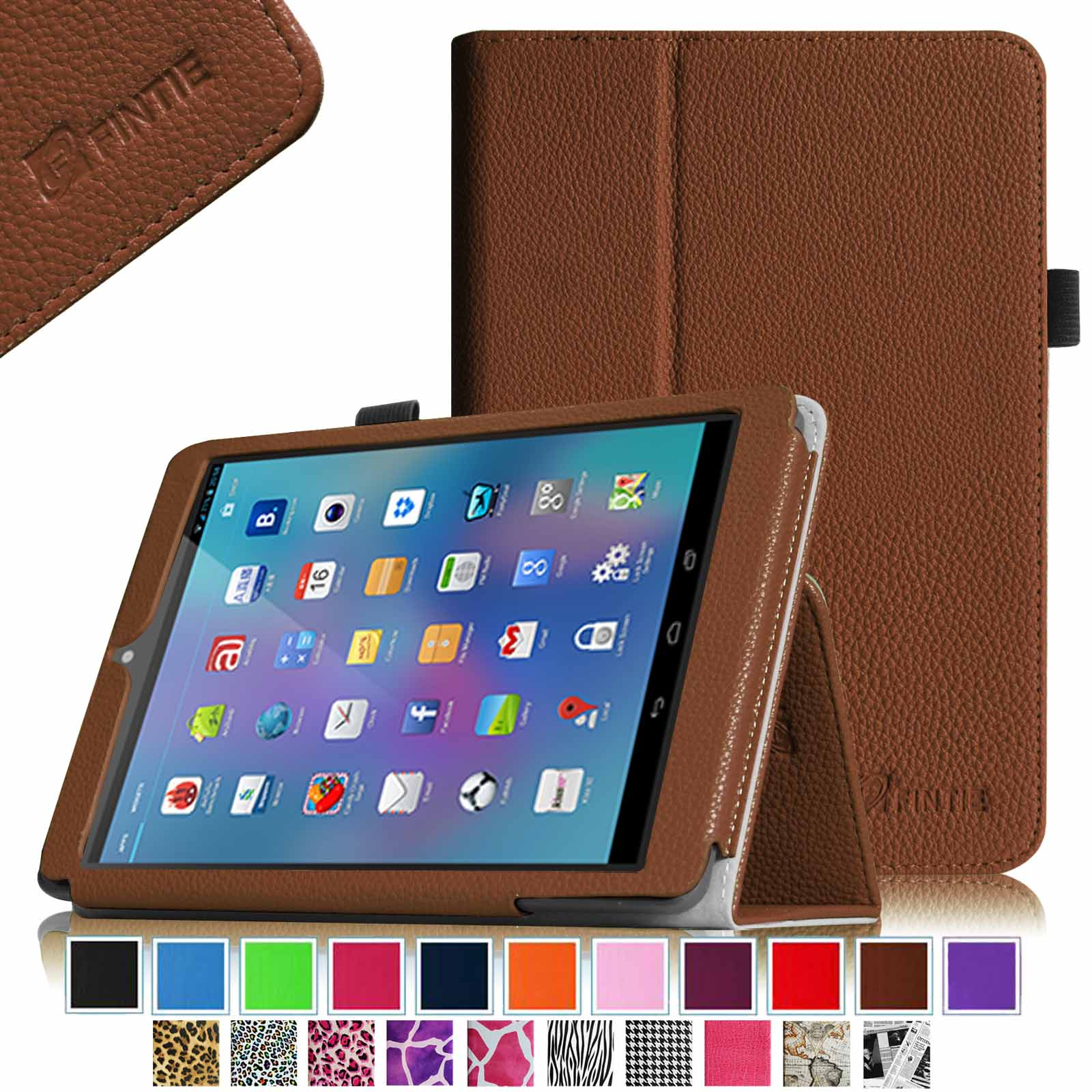 "Fintie Premium PU Leather Case Cover with Stylus Holder For Nextbook 8(NX785QC8G) 7.85"" Android Tablet, Brown"
