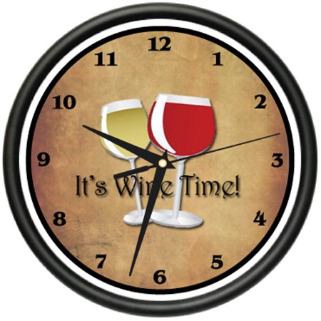 ALOHA TIKI BAR Wall Clock cocktails drinks bamboo home lover collector gift