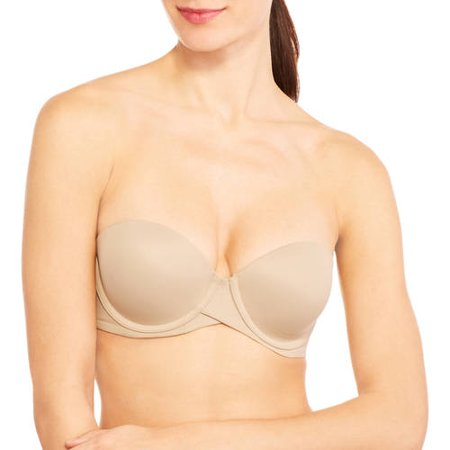 30b9515f9b9d4 Maidenform - Sweet Nothings Stay Put Strapless Push Up Underwire Bra ...